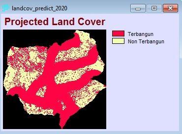 5. Prediksi lahan terbangun tahun 2020