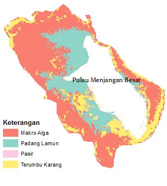 Kelas habitat bentik Pulau Menjangan Besar tahun 2004