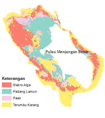 Kelas habitat bentik Pulau Menjangan Besar tahun 2012